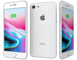 3D model apple Apple iPhone 8 Silver