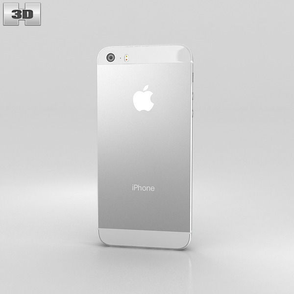 3D Model Apple IPhone 5S Silver White