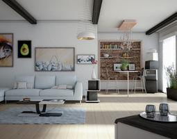 3D model House Milan Wood
