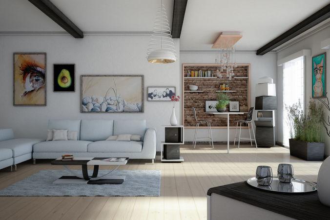 house milan wood  3d model max 1
