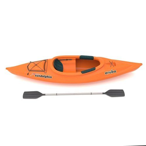 sport boat with paddle 3d model max obj mtl 3ds fbx c4d lwo lw lws 1