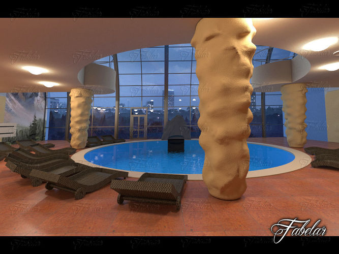 swimming pool 07 3d model max 1