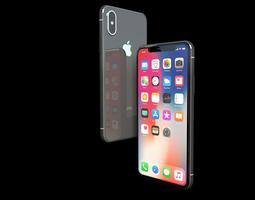 Apple iPhone X Ten 2017 3D model