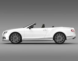 bentley continental gt speed convertible 2012 3d model