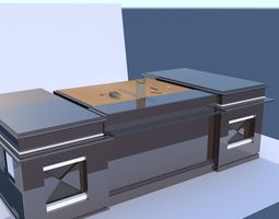 Office Desk electric 3D model