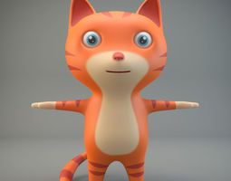 Cartoon Cat 3D model realtime