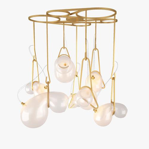 catch suspension - cs0702 chandelier by lindsey adelman 3d model max obj mtl fbx 1
