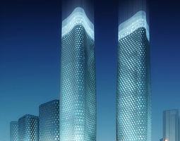 Skyscraper City Scene 004 3D