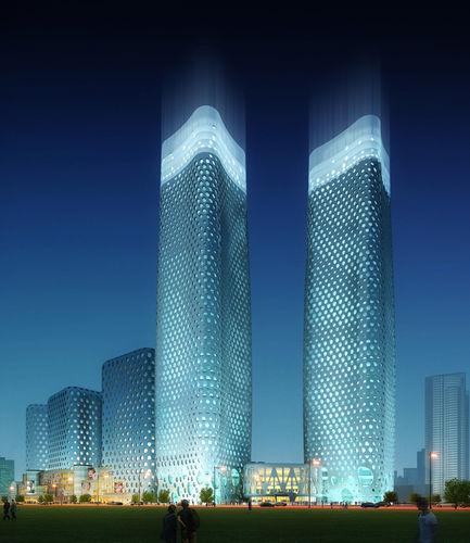 skyscraper city scene 004 3d model max 1