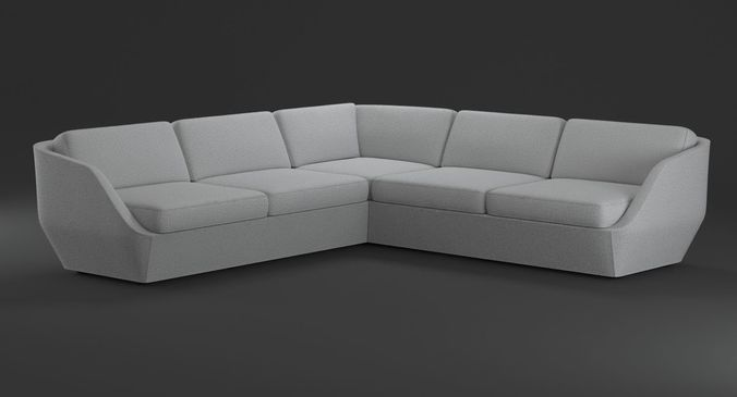 ... Bernhardt Design Cinema Sofa 3d Model Max Obj Fbx Mtl Mat 3 ...