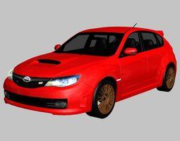3D asset 2008 Subaru Impreza WRX STi