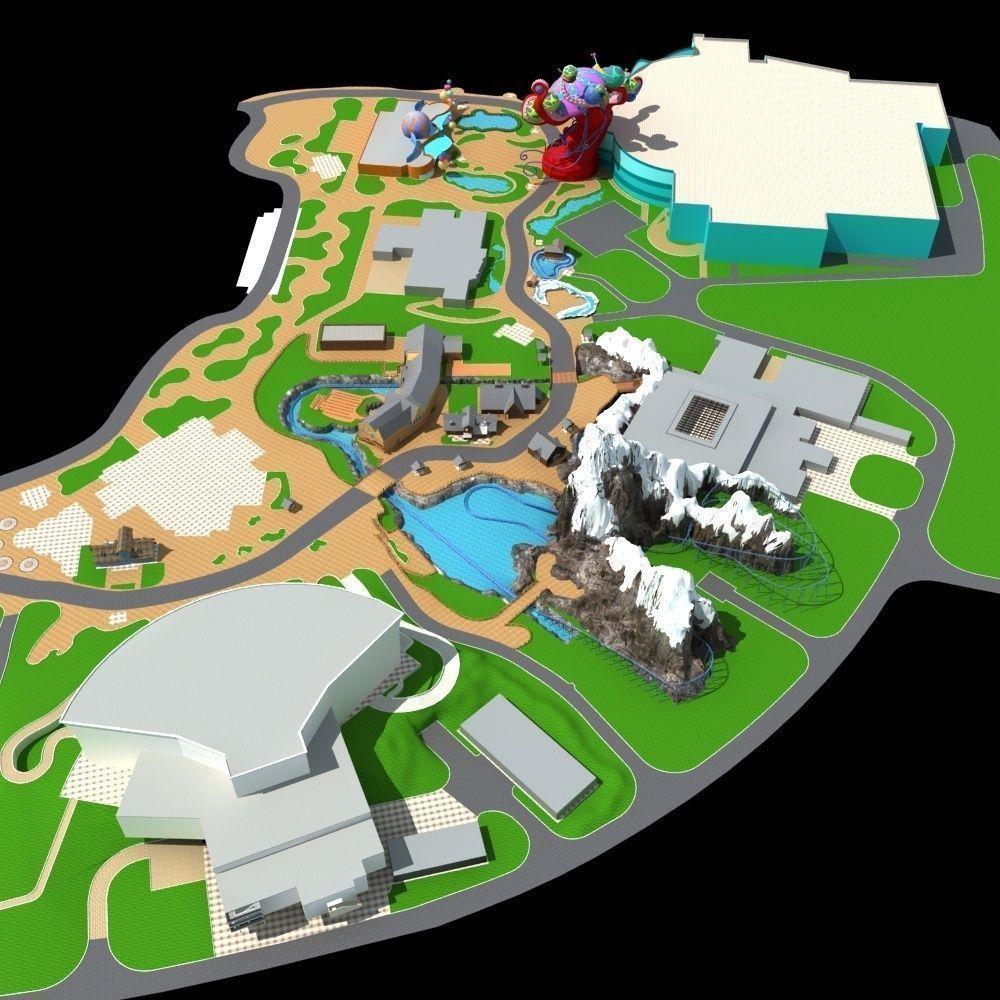 Amusement Park 03 3d Model Max Cgtrader Com