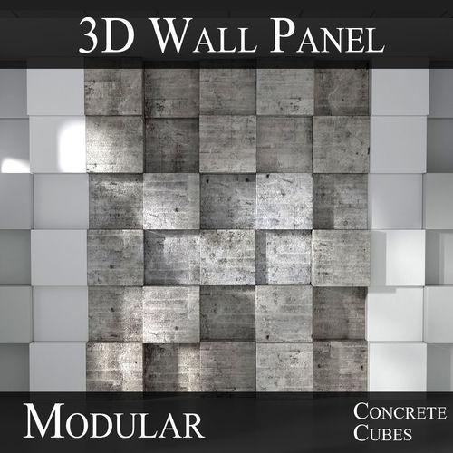 VR / AR ready 3D Modular 3D Feature Wall Panels   CGTrader - photo#27