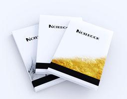 3D asset Notebook - Set of 3