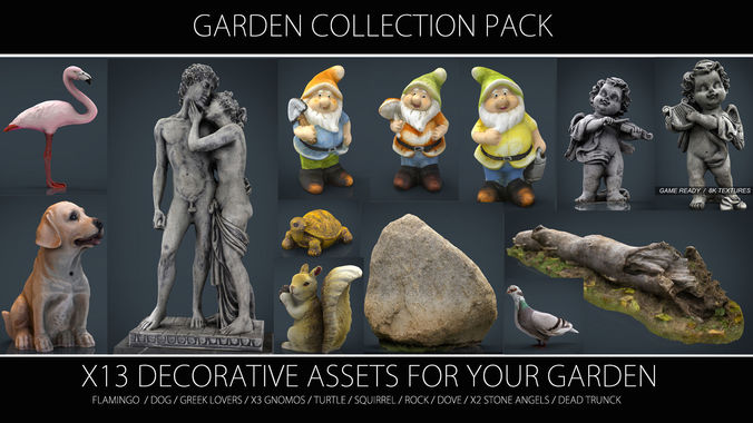 garden collection pack 3d model max obj mtl fbx ma mb stl 1