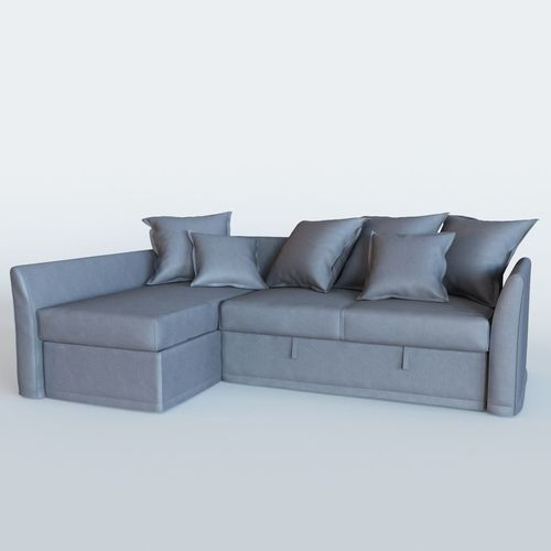 3d model holmsund sofa bed with chaise longue cgtrader for Sofa bed 3d model
