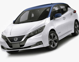 3D model Nissan Leaf 2018
