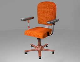 rigged Office Chair 3D model RIGGED