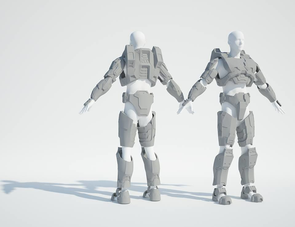 Halo 3 Master Chief costume for 3d printing
