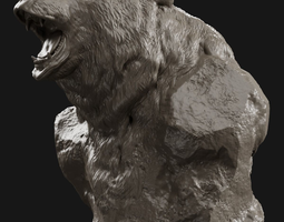 Bear Grin Bust 3D print model