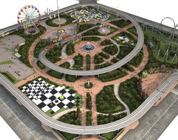 Amusement Park 3D asset