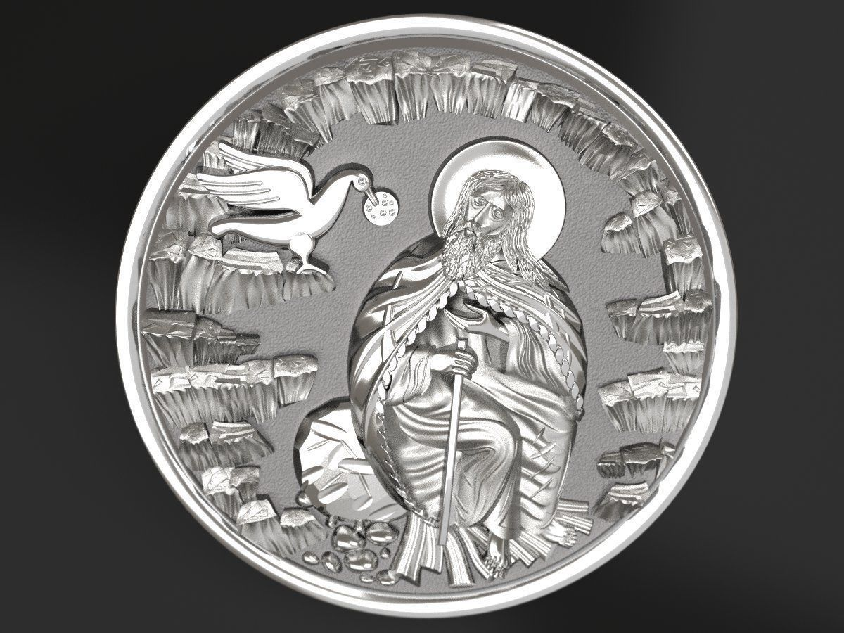 Prophet Ilya medallion