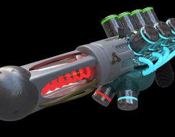 Futuristic Gun 3D animated