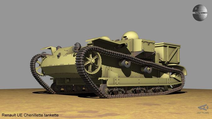 renault ue chenillette tankette 3d model max fbx 1