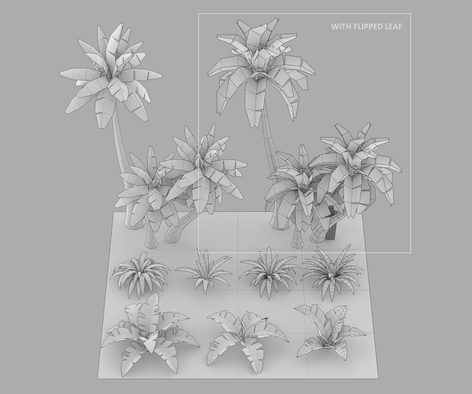 Cartoon Oasis Plants