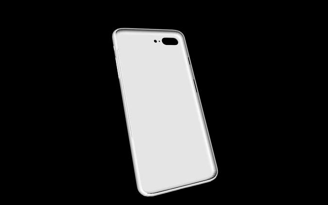 3d printable model iphone 8 plus simple case cgtrader