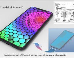 iPhone X - original dimensions 3D model 3D