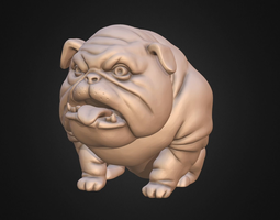 3D print model Dog Pitbull Bulldog stylized