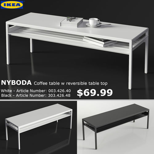 3d Ikea Nyboda Large Table Cgtrader