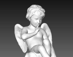 Cute boy angel 3D printable model