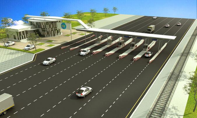 highway 3d model max 1