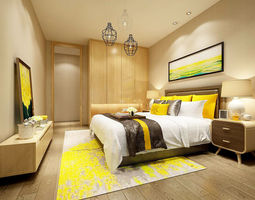 Stylish bedroom complete 108 3D