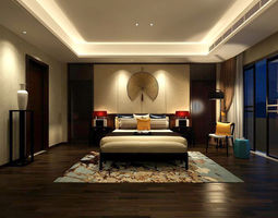 Stylish bedroom complete 174 3D