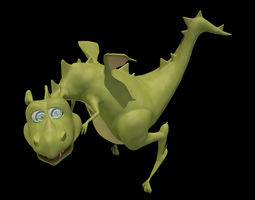 Dragon reptile 3D model rigged realtime