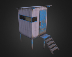 Watchtower 3D model low-poly