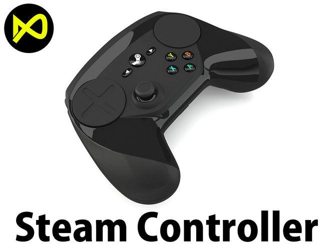 steam controller 3d model max obj mtl 3ds fbx c4d lwo lw lws 1