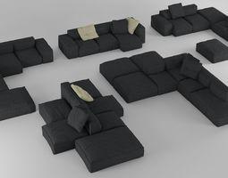 3D model Bonaldo Peanut Collection B01-B05 Pillows