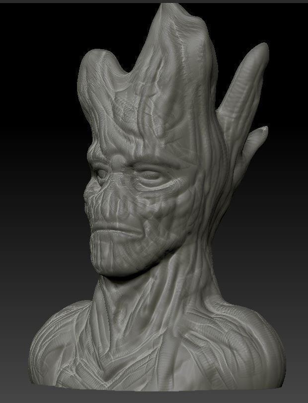 Groot Resculpt Hd 52mb Free 3d Model 3d Printable Stl