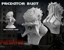 Predator Bust Sculpt HD 3D print model