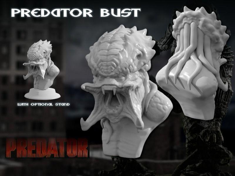 Predator Bust Sculpt HD