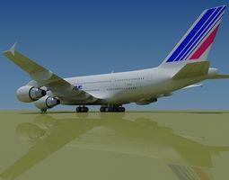 Air France 3D Model Airbus A380