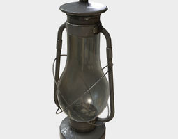 3D asset Low Poly PBR Hurricane Lantern