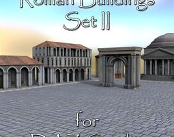 3D asset Roman Buildings Set II for DAZ Studio