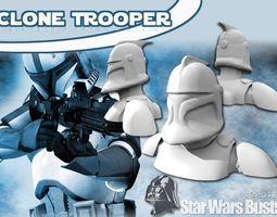 clone trooper bust 3d printable model