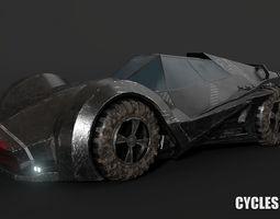 3D model SCI FI Car