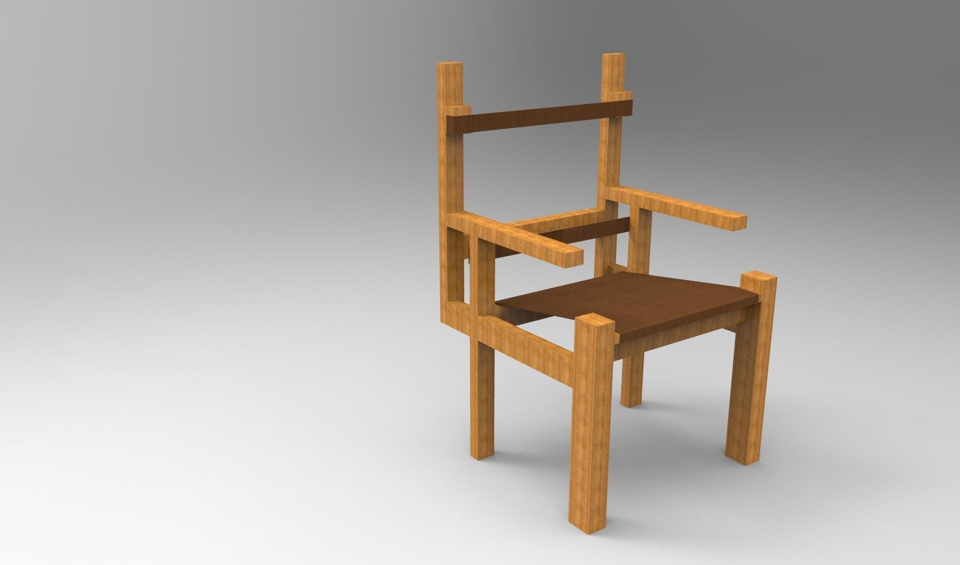 Marcel Breuer Slatted Chair 3d Model Stl 3dm 1